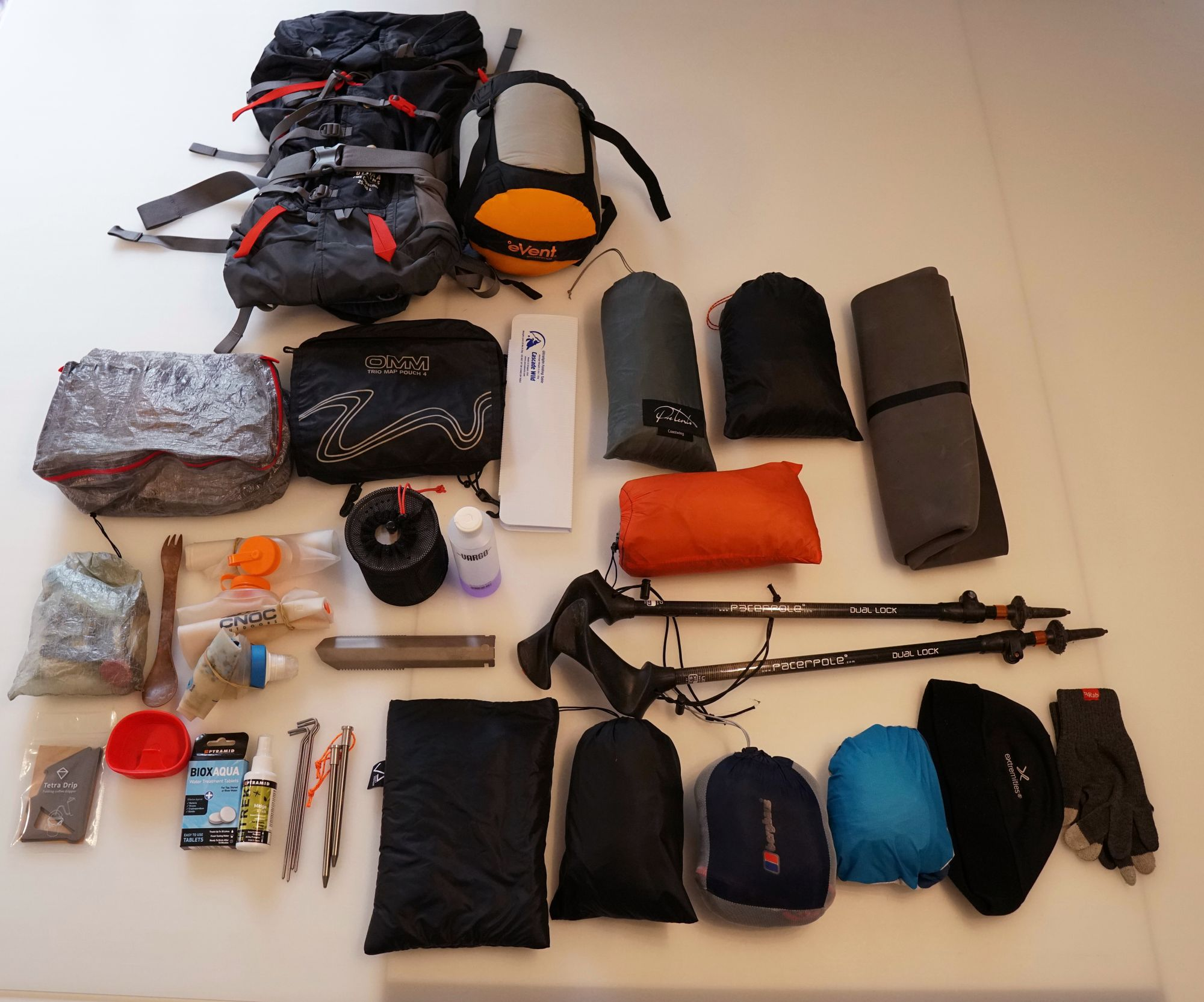 Gear list under 6kg for Spring to Early Autumn